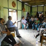 Mr. Naimur Rahman, consultant from World Bank interacting with community leaders on Df Intervention Area.