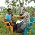Mr. Prabal Sharma, AIR Interviewing Df Intervention Farmer
