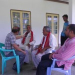 Mr. Prabal Sharma, AIR Interviewing elderly community leaders on Role of Community on Conservation of Rich Biodiversity